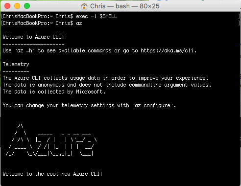 Install Azure CLI 2.0 on macOS