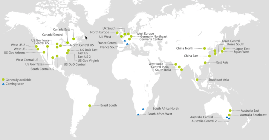 Azure Regions and Availability Zones 1
