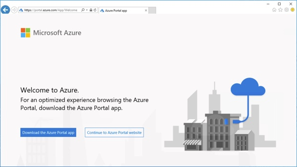 Azure Portal App for Windows in Preview 1