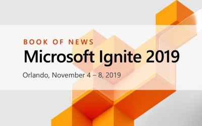 Microsoft Ignite 2019 Book of News