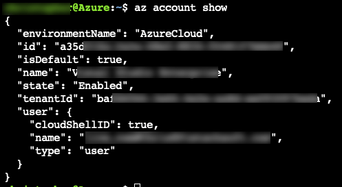 Azure CLI 2.0: List and Set Azure Subscription 1
