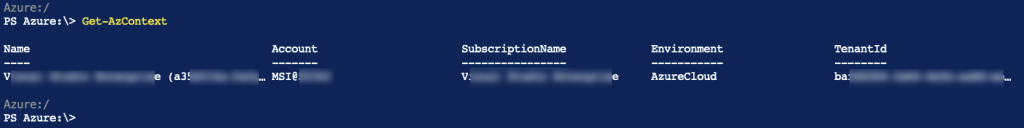 Azure PowerShell Az: List and Set Azure Subscription 1