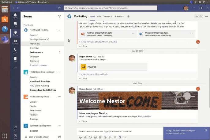 Microsoft Teams is First Office App for Linux