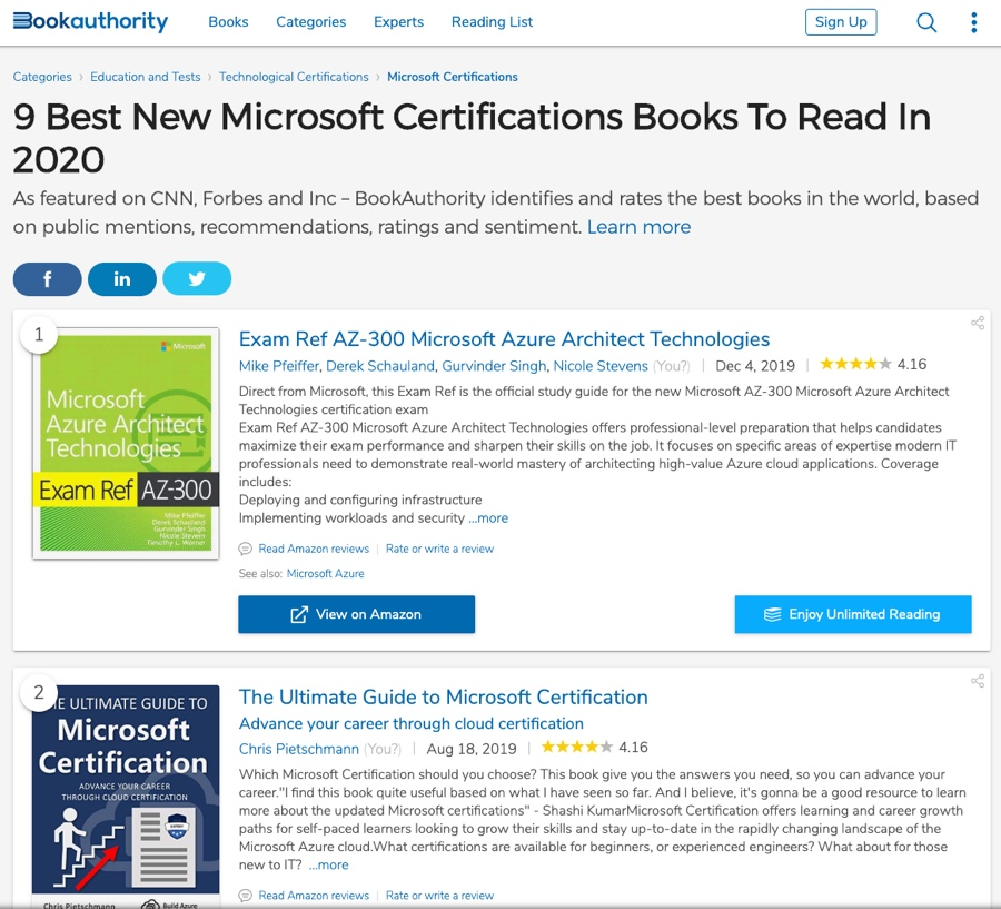 Rated Top Book to Read in 2020: Ultimate Guide to Microsoft Certification 1
