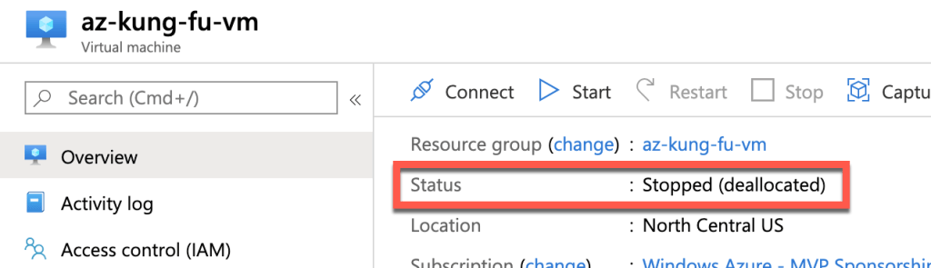 Properly Shutdown Azure VM to Save Money 1