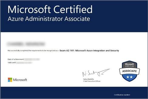 Microsoft Certified certifcate