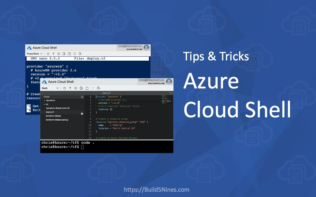 Azure Cloud Shell Tips and Tricks