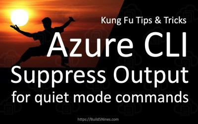 Azure CLI: Suppress Output for Silent Commands / Quiet Mode