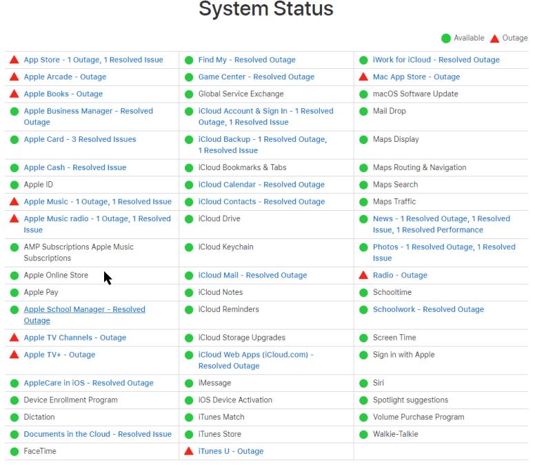 Major Apple outage 2