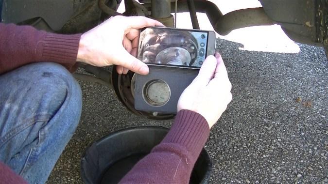 Prener des photos du frein assemblé