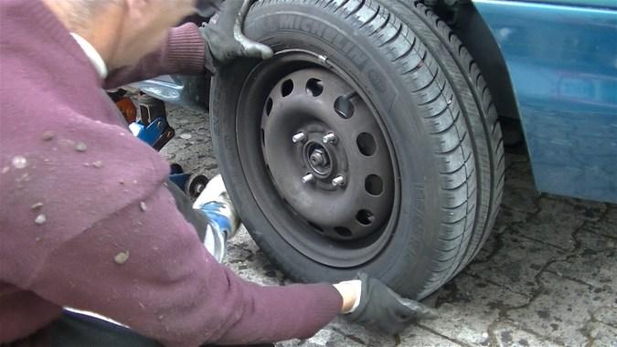 Reposer la roue