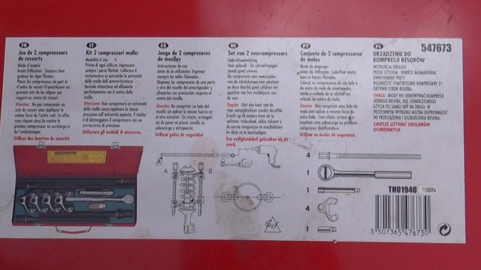 Utilisez un compresseur de ressort de ce type pour comprimer le ressort hélicoïdal de l'amortisseur