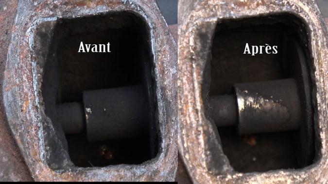 Le démontage de la vanne EGR permet de juger de l'efficacité du nettoyant Wynn's EGR3