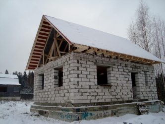 Баня из пеноблока или газоблока - Капитальное строительство