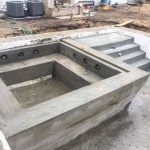 ICF pool with concrete Jacuzzi