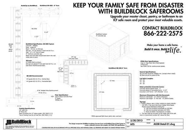 BuildBlock Safe Room Plans & Construction