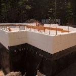 ICF Walls With Waterproofing