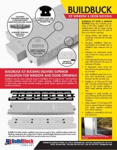 2016 BuildBuck ICF Door and Window Bucking Brochure