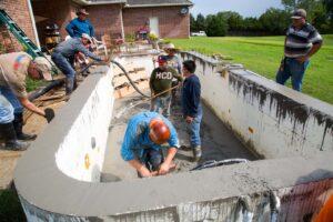Working on ICF pool