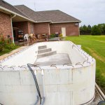 Completed pool before waterproofing and finishes