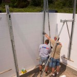 Attaching bracing to the wall