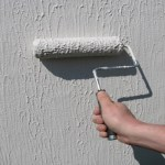 Paint Roller with plaster