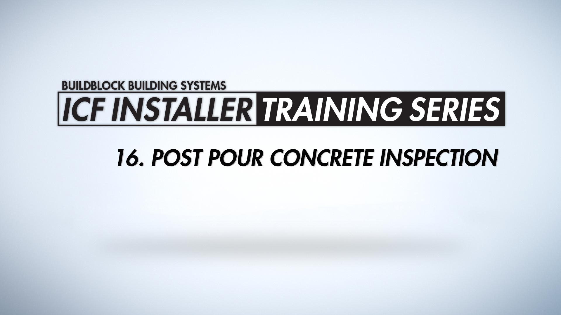 post pour concrete inspection