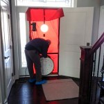 Interior During Blower Door Test