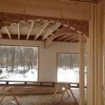 Exterior ICF walls and interior wood framing