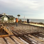 Atlantic Beach House during construction