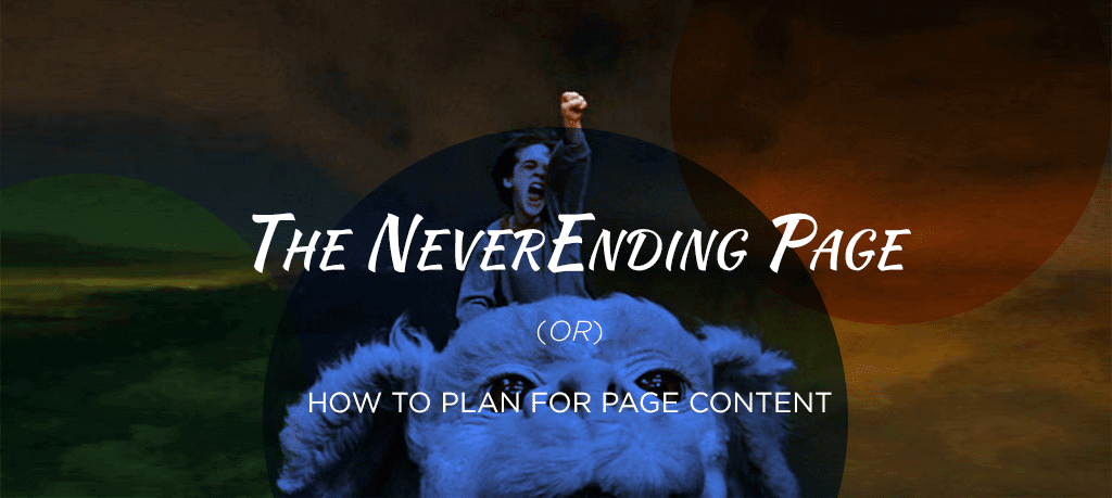 The Never-ending page or how to plan for page content