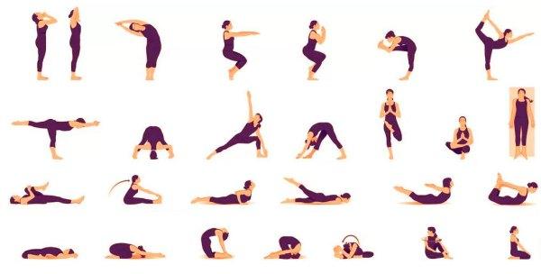 Асаны йоги с фото и описанием для начинающих 31 упражнение