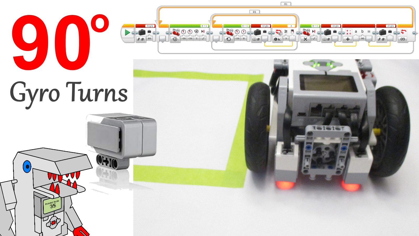 program accurate 90 degree turns with the ev3 gyro sensorprogram accurate 90 degree turns with the ev3 gyro sensor