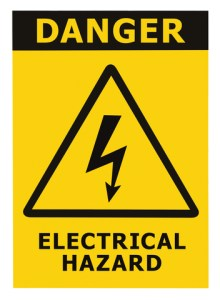 hazard sign electrical
