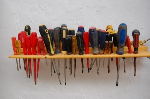 Large collection of screwdrivers