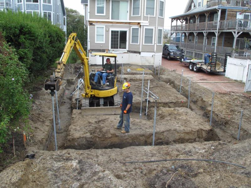 Piling and foundation contractors what do they do for Concrete pilings for house