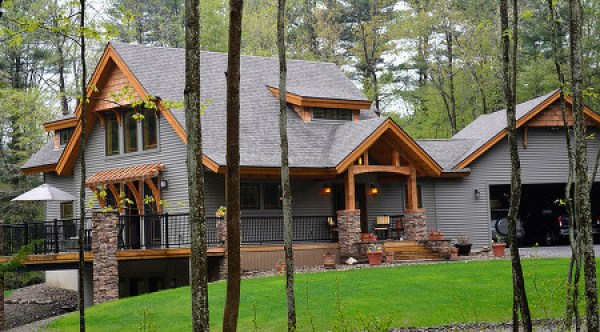 Post and beam homes for Small post and beam cabin plans