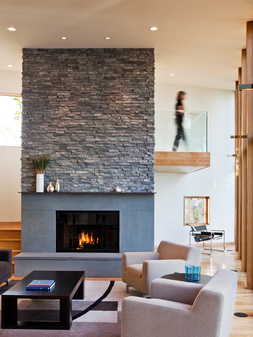 Ledge Stone Fireplace