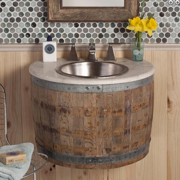 Bathroom Vanities Cincinnati farm bathroom Bourbon Barrel Bathroom Vanity Louisville Cincinnati Newport Kentucky
