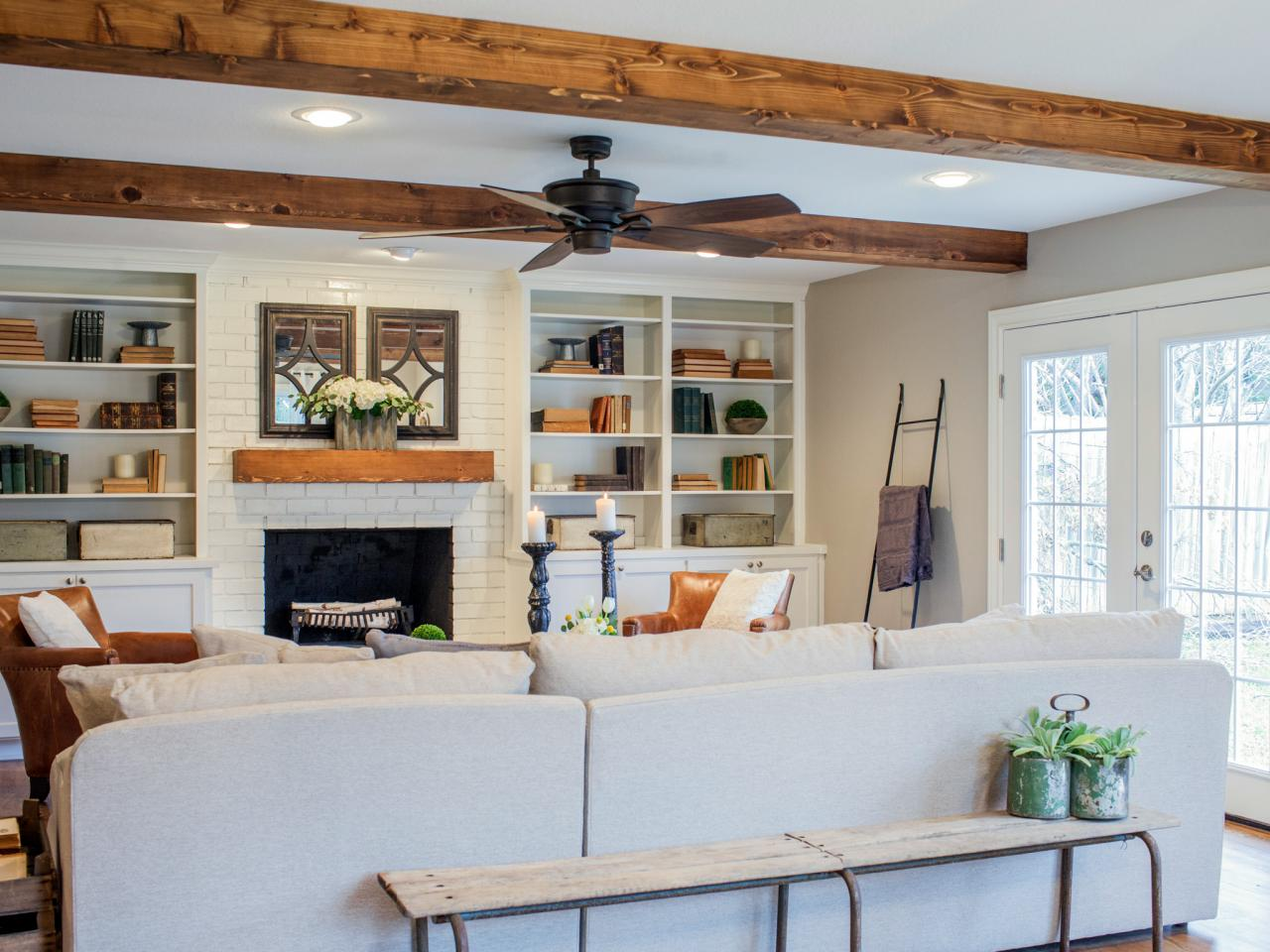http://withheart.com/featured/diy-faux-wood-ceiling-beams/