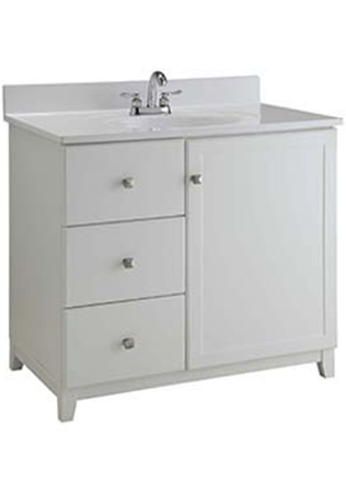 Shorewood White Furniture Style Bathroom Vanity