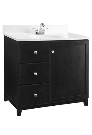 shorewood espresso furniture style bathroom vanity