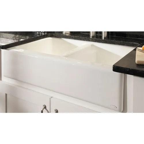 cast iron apron front farmhouse 33 x 22 x 8 75 white kitchen sink