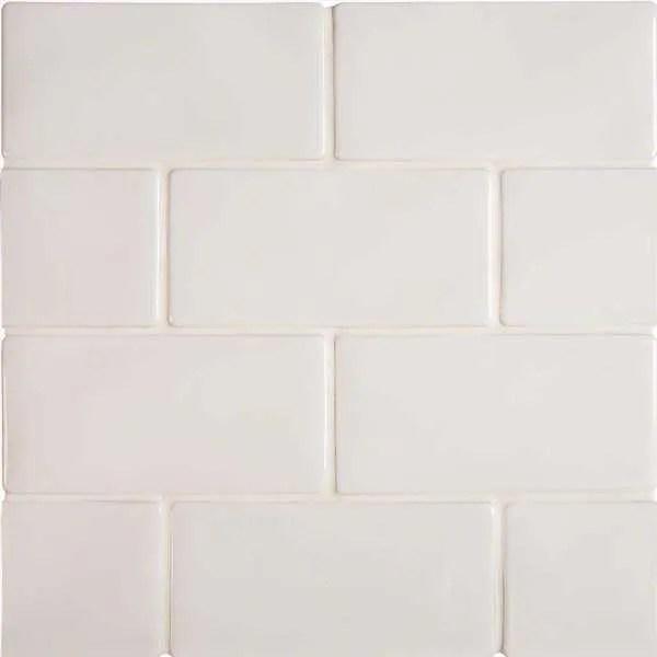 3x6 whisper white ceramic subway tile