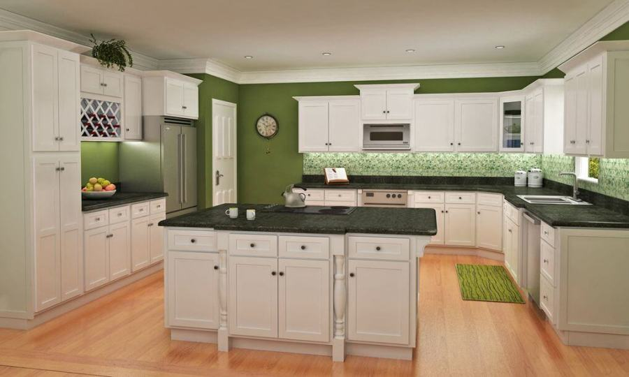 Builders Surplus YEE HAA Custom Kitchen Cabinets Dallas  Fort Worth     WHITE SHAKER KITCHEN CABINETS