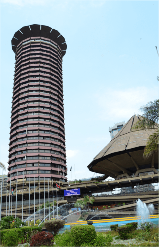 The Kenyatta International Conference Centre, one of the buildings Architect David Mutiso worked on when he was Chief Architect at the Ministry of Public Works.