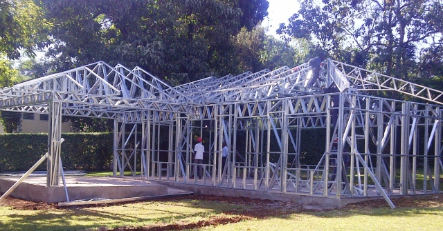 Light gauge steel lgs construction in kenya for Roofing styles in kenya