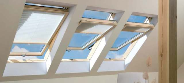 Roof windows - how they look from inside the attic