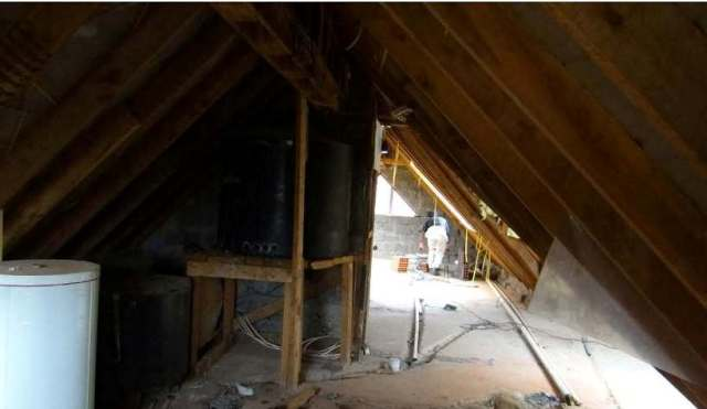 Attic space before makeover