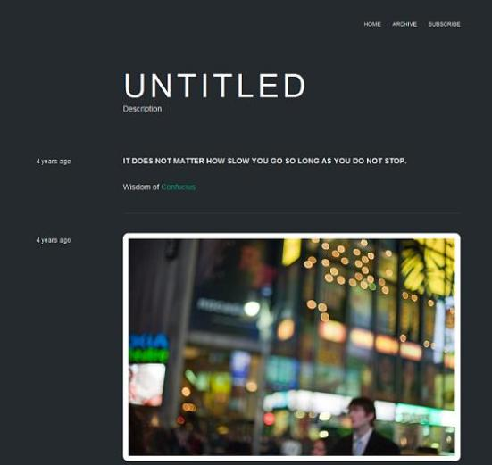 clarity dark tumblr theme